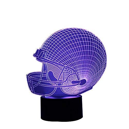 Hawk Skull 3D optische Illusion Schreibtisch Lampe 7Farben ändern Touch Button USB Nachtlicht Fertigt Einzigartige Visualisierung Lichteffekte Art Skulptur Light, acryl, Football Caps, 7.4 * 5.7inch Hawks-lampe