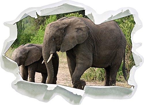 Elephant prossimo Figli, di carta 3D autoadesivo della parete formato: 92x67 cm decorazione della parete 3D Wall Stickers parete decalcomanie