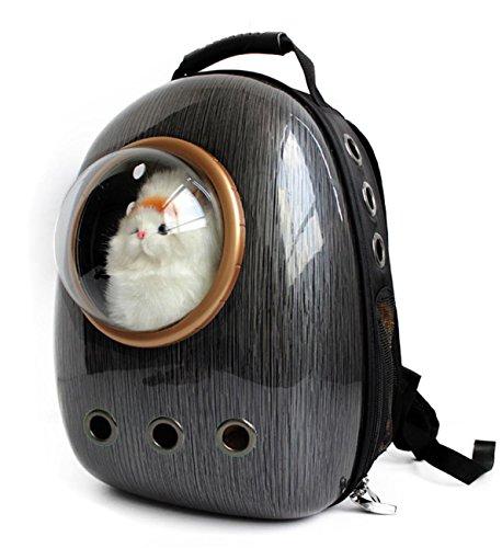 stier-Rucksack-Fluglinie genehmigte transparente atmungsaktive Venthole-Hundekatze-Fördermaschine bewegliche Handtaschen-im Freienreise-gehende wandernde Koffer , black ()