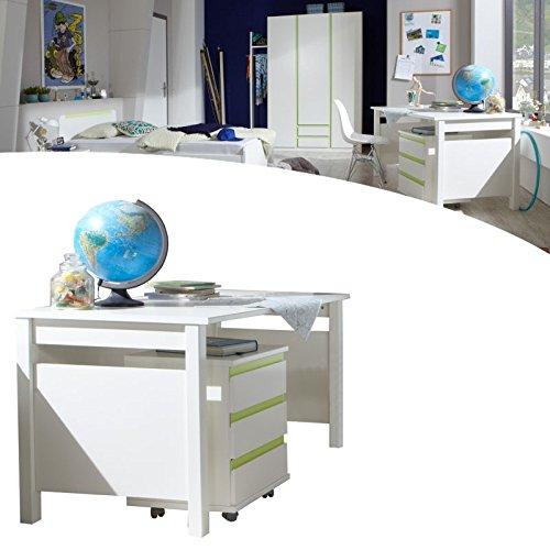 Kinderzimmer Bibi Schreibtisch Apfelgrün - Alpinweiß
