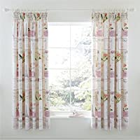 "Parisienne Patchwork Pink Lined 66"" X 72"" - 168cm X 183cm Pencil Pleat Curtains by Curtains"