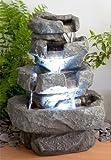 Zimmerbrunnen 'Shubunkin Spills' mit LED-Beleuchtung 36cm