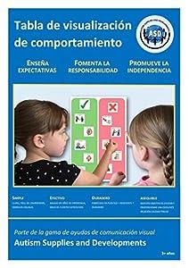 Autism Supplies And Developments-Gráfico de Comportamiento Visual de plástico (Español) (ES_BC)
