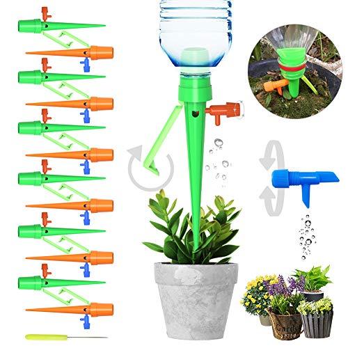 18 Stück Automatisch Bewässerung Set,Einstellbar Bewässerungssystem Garten zur Pflanzen Bewässerung Blumen Bewässerung Zimmerpflanze Bewässerung Ideal Wasserversorgung Während Ihrem Urlaub 18 Pflanzen