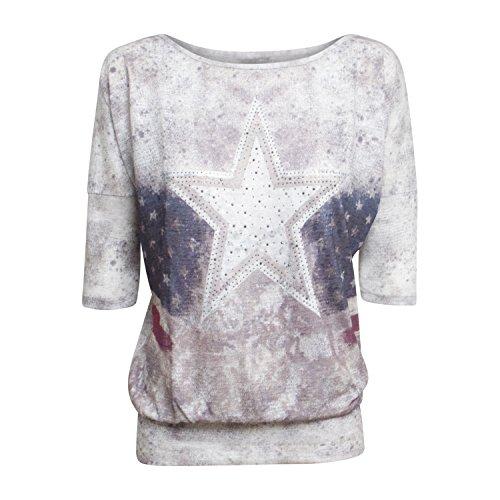 """3/4 Arm Shirt """"DLS MICHIGAN"""" von Key Largo für Damen - in zwei Farben Offwhite"""