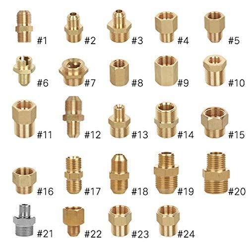 G1/8 1/4 3/8 1/2 Zoll Gewinde ~ M14/18/22 Gewinde für Hochdruckreiniger, Adapter Messing männlich auf weiblich Auslass Schlauchtülle