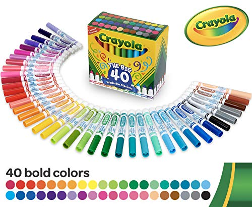 Crayola Ultra-Reinigungsmarker, waschbar, breite Linie, 40 klassische