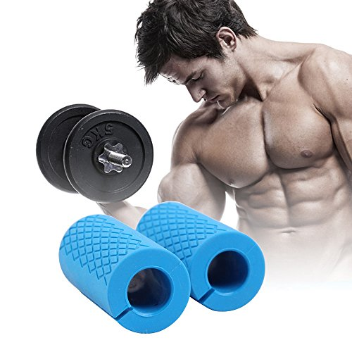 eBerry-Thick-Bar-Grips-Comfortable-Durable-Non-slip-Silicone-Rubber-Easily-Attachable-to-Any-Bar-For-Barbell-Dumbbell-Kettlebell-Perfect-for-Muscle-Growth