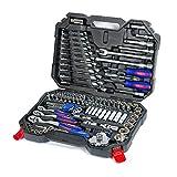 WORKPRO Steckschlüsseleinsatz Werkzeugkoffer Werkzeug Kasten Fahrrad Auto Reparatur Steckschlüssel-Satz 123-teilig