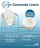 TidyCare Commode Liners - Convenience Pack XL - Bedside Commode Liners - 24 commode liners and 24 super-absorbent pads - Adult commode chair - Commode pail liners - Universal fit