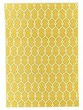In- und Outdoor-Teppich Balkon / Wohnzimmer Vitaminic Trellis gelb 133 x 190 cm