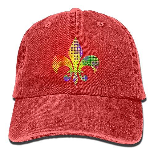 lears Fleur De Lis Mardi Gras Erwachsener Sport Einstellbare Baseballmütze Cowboy-Hut eine Größe