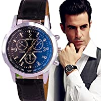 Youkara Blue Man Looks at Classic Watches