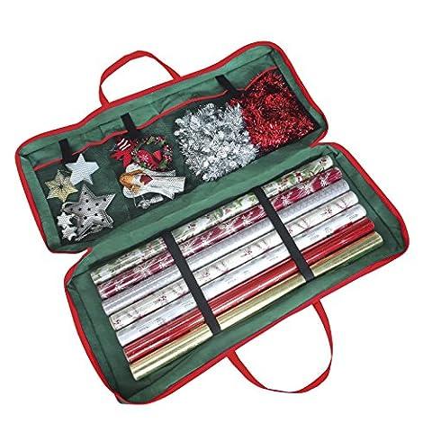 Papier cadeau de Noël-Sac de rangement en tissu (82 x 34 x 13 cm) pour Papier, Tags & nœuds