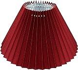 Plissee Lampenschirm SANGUE DI BUE *rund* dunkelrot, transluzenter Lumière-Karton, Du=22/Do=9 /schräge H=14cm, Befestigung E27 (E14 mit Reduzierring inklusive )