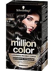 Million Color Intensiv-Pigment-Farbe 1-0 Tiefschwarz, 3er Pack (3 x 1 Stück)