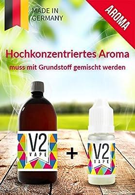 V2 Vape KiBa Kirsch Banane Konzentrat hochdosiertes Premium Lebensmittel-Aroma zum selber mischen von E-Liquid / Liquid-Base für E-Zigarette und E-Shisha 0mg nikotinfrei - verschiedene Größen von V2 Vape