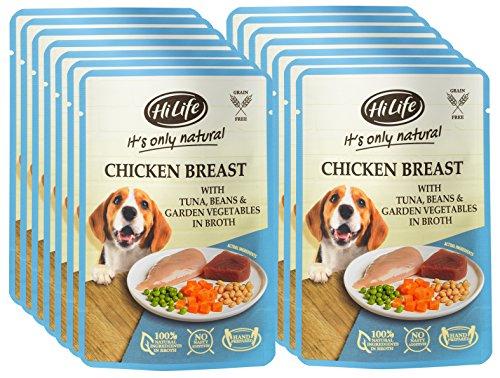 HiLife es sólo alimento Natural para Perros, Pollo con túnel y Verduras...