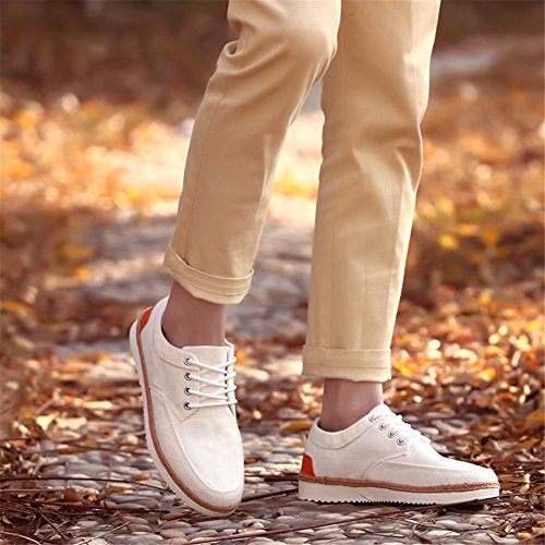 XiaoYouYu - Scarpe con plateau uomo Beige (beige)