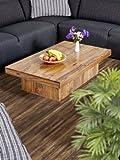 Couchtisch Wohnzimmertisch Tisch Palisander Massivholz 118x70 cm Massivholztisch