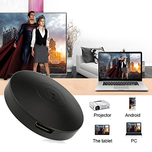 Wifi Display Dongle  ieGeek 2018 Wifi Mini Adapter Display Receiver Wireless 1080P Full HD HDMI TV Dongle Miracast Airplay DLNA for IOS Android  Samsung Galaxy LG Nokia IPhone Pixel Nexus  Windows Mac  Black