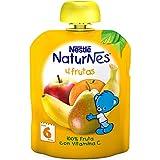 Nestlé Naturnes - Bolsitas de  4 Frutas - A Partir de 6 Meses - Pack de 4 x 90 g