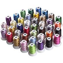 Simthreads 40 colores de poliéster hilo de bordar - 500 Metros / Carrete
