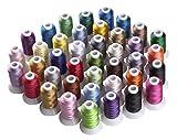 Simthreads 40 Farben Polyester Stickgarn - 500 Meter, für Brother / Babylock / Janome / Kenmore / Singer Stickereimaschine