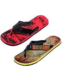 5d20b4bfa7e78 IndiWeaves Men Step Care Comfortable Flip Flop House Slipper and Hawaai  Chappal (Pack of 2
