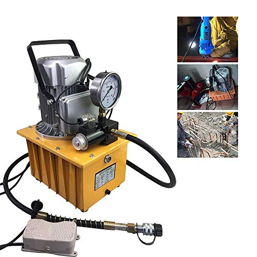 lquide Elektrische Hydraulikpumpe, pedalbetätigte Hydraulikpumpe, angetriebene Hydraulikpumpe mit manuellem Ventil, 700Bar / 750W / 7L