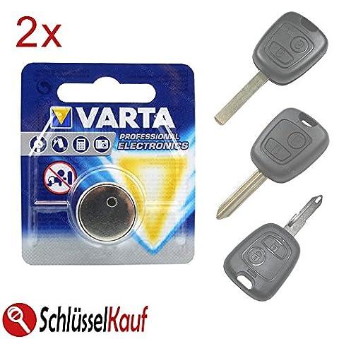 2x Batterie Varta Clés de Voiture pour Peugeot 107207307Citroen C1C2C3C4Saxo