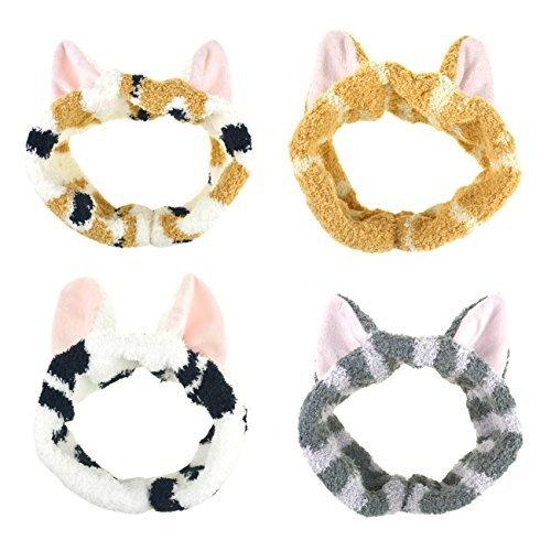 DRESHOW Nette Katze Ohr für Damen Waschen Gesicht Make-up Laufsport 4 STÜCK