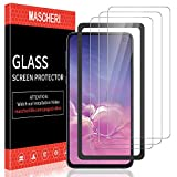 MASCHERI Verre Trempé pour Samsung Galaxy S10e,[3 Pièces] [Cadre de positionnement ] [Résistant aux Rayures] Film Protection écran pour Galaxy S10e- Transparent