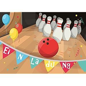 Einladung Kindergeburtstag Bowling