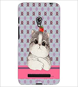 PrintDhaba Kitty D-3796 Back Case Cover for ASUS ZENFONE 5 A501CG (Multi-Coloured)