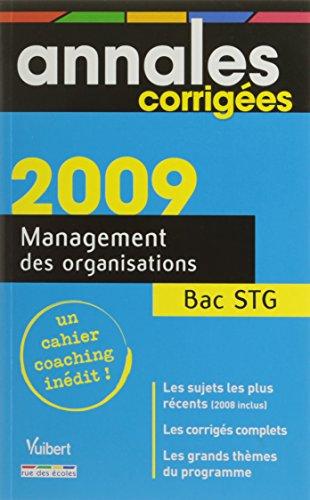 Management des organisations Bac STG