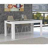 80f4fdc2e5399d FINLANDEK Table a manger ELÄMÄ 6 a 8 personnes 160x90 cm - Blanc et noir