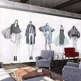 ZMQBH Selbstklebende Tapete (W) 520X (H) 290Cm 3D Wandbild Kreative Persönlichkeit Modell Brautmodengeschäft Bekleidungsgeschäft Kleidung Büro Restaurant Korridor Café Fitnessstudio Hotel Bar Gesc