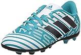 adidas Nemeziz Messi 74 Fxg J, Scarpe per Allenamento Calcio Bambino, Multicolore (Ftwr White/Legend Ink /Energy Blue), 34 EU