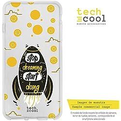 Funnytech Iphone 5 / 5S / Se Coque Housse TPU Silicone pour Iphone 5 / 5S / Se l [Design Exclusif, Impression Haute Définition] [Couleurs Très Vives] [Frase Motivación Start Doing transp ver2]