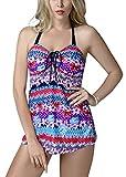 FEOYA - Traje de Baño Bikini de 2 piezas Bañador de Mujer Tallas Grandes...
