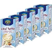 Krüger Chai Latte Classic India moins sucré, vanille et de cannelle, boisson légère à base de thé au lait, Lot de 5, 5 x 10 sachets
