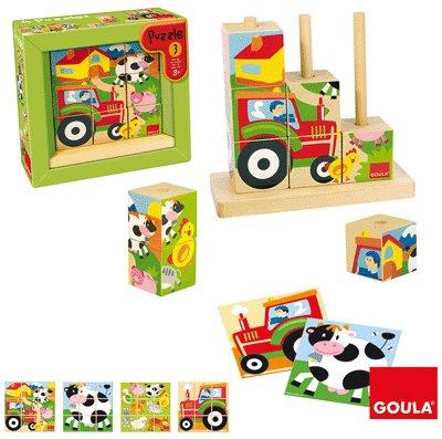 Diset 55203 - Puzzle Cubos Granja de Diset
