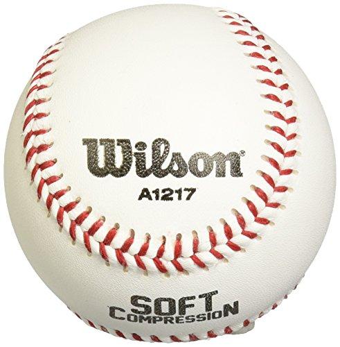 WILSON A1217Weiche Kompression Baseball (12Stück), weiß -
