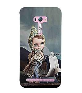 For Asus Zenfone Selfie ZD551KL beautiful girl ( beautiful girl, girl, cute girl, cartoon, smart girl, scooter ) Printed Designer Back Case Cover By CHAPLOOS