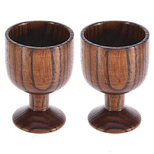 Weinkelch, 2 Stück Holz Weinkelch Kelch Kleiner Mini Handarbeit Wein Trinkbecher Dekoration
