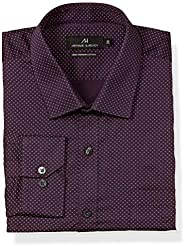 Amazon Brand - Arthur Harvey Men's Printed Regular Fit Full Sleeve Cotton Formal S