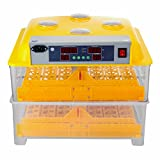 Ambesten Brutapparat für Hühner 112 Eier Inkubator Geflügel Thermometer Brutmaschine Ei-Brutkasten Brutkasten Brutapparat Hatcher Digitale Klar Temperatur Steuerung Automatische Dreh 220V (112 Eier)