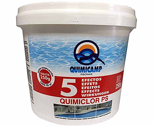 Quimicamp - Cloro 5Efectos Tableta 250Gr Envase 5 Kilos. 201805 Quimicamp