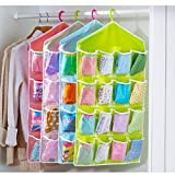 #8: Dishan one Pearl 16 Grids Hanging Storage Bag and Organizer Pouch (Color May Vary)